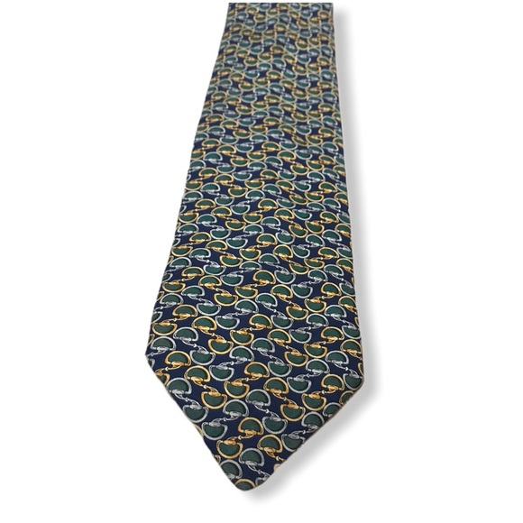 Brooks Brothers Makers Luxury Yellow Medallion Tie